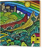 The Castles Rainbow Wood Print