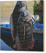 The Catch - Begnas Lake - Nepal Wood Print