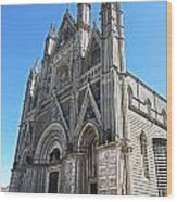The Cathedral At Orvieto Wood Print