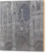 The Cathedral In Rouen Wood Print
