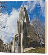 The Cathedral Of Learning 2g Wood Print