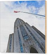 The Cathedral Of Learning 4 Wood Print