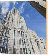 The Cathedral Of Learning 5 Wood Print