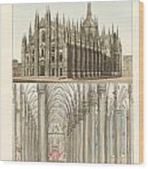 The Cathedral Of Milan Wood Print