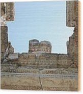 The Ceiling Of The Tetrapylon Aphrodisias Wood Print by Tracey Harrington-Simpson