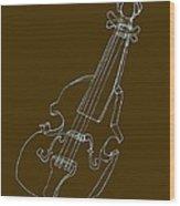 The Cello Wood Print