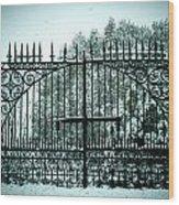 The Cemetery Gates Wood Print