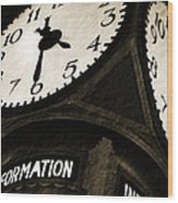 The Central Terminal Clock Wood Print