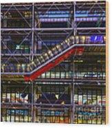 The Centre Pompidou II-paris Wood Print