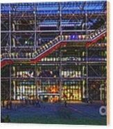 The Centre Pompidou-paris Wood Print