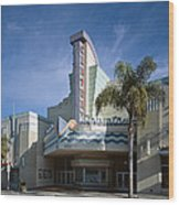 The Century Theatre In Ventura Wood Print