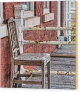 The Chair  Wood Print by JC Findley