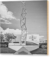 The Challenger Memorial 2 - Bayfront Park - Miami - Black And White Wood Print by Ian Monk