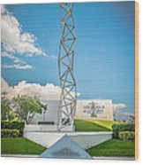 The Challenger Memorial 2 - Bayfront Park - Miami Wood Print by Ian Monk
