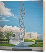 The Challenger Memorial - Bayfront Park - Miami - Hdr Style Wood Print