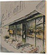 The Champs Elysees Wood Print