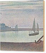 The Channel At Gravelines In The Evening Wood Print