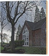 The Chapel At Eagle Point National Cemetery Wood Print