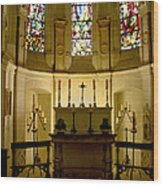 The Chapel In Chenonceau Castle Wood Print