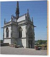 The Chapel Of Saint-hubert Amboise Wood Print