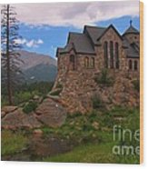 The Chapel On The Rock Wood Print