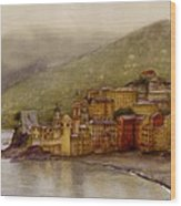 The Charming Town Of Camogli Italy Wood Print
