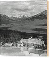 The Chateau Lake Louise Wood Print