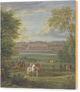 The Chateau Of Saint Germain Oil On Canvas Wood Print