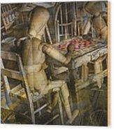 The Checker Game Wood Print
