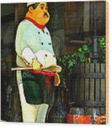 The Chef In The Window Wood Print