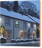 The Chequers Inn Wood Print