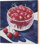 The Cherry Bowl Wood Print