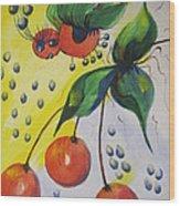 The Cherry Fairy Wood Print