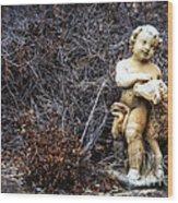 The Cherub And The Lamb Wood Print