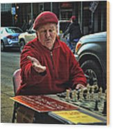 The Chess King Jude Acers Of The French Quarter Wood Print