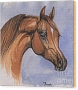 The Chestnut Arabian Horse 1 Wood Print