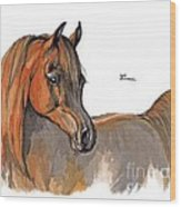 The Chestnut Arabian Horse 2a Wood Print
