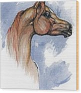 The Chestnut Arabian Horse 4 Wood Print