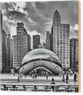 The Chicago Bean II Wood Print