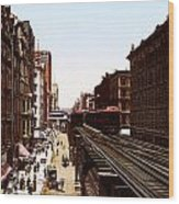 The Chicago El Wood Print