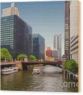 The Chicago River South Branch Wood Print