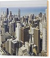 The Chicago Skyline From Sears Tower-001 Wood Print
