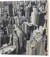 The Chicago Skyline From Sears Tower-004 Wood Print