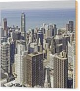 The Chicago Skyline From Sears Tower-009 Wood Print