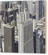 The Chicago Skyline From Sears Tower-010 Wood Print
