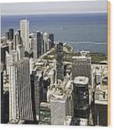 The Chicago Skyline From Sears Tower-011 Wood Print