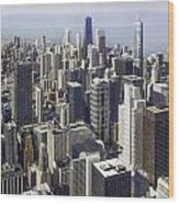 The Chicago Skyline From Sears Tower-013 Wood Print