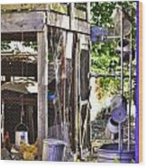 The Chicken Coop Wood Print