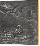 The Child Moses On The Nile Wood Print by Gustave Dore