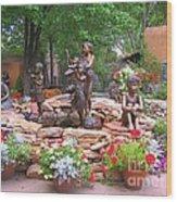 The Children Sculpture Garden - Santa Fe Wood Print